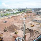 South Wales Argus: Pictured are the latest pictures from the Friars Walk development taken from Chartist Tower 14th floor. (6984963)
