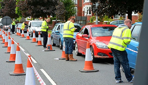 Traffic survey causes delays in Newport