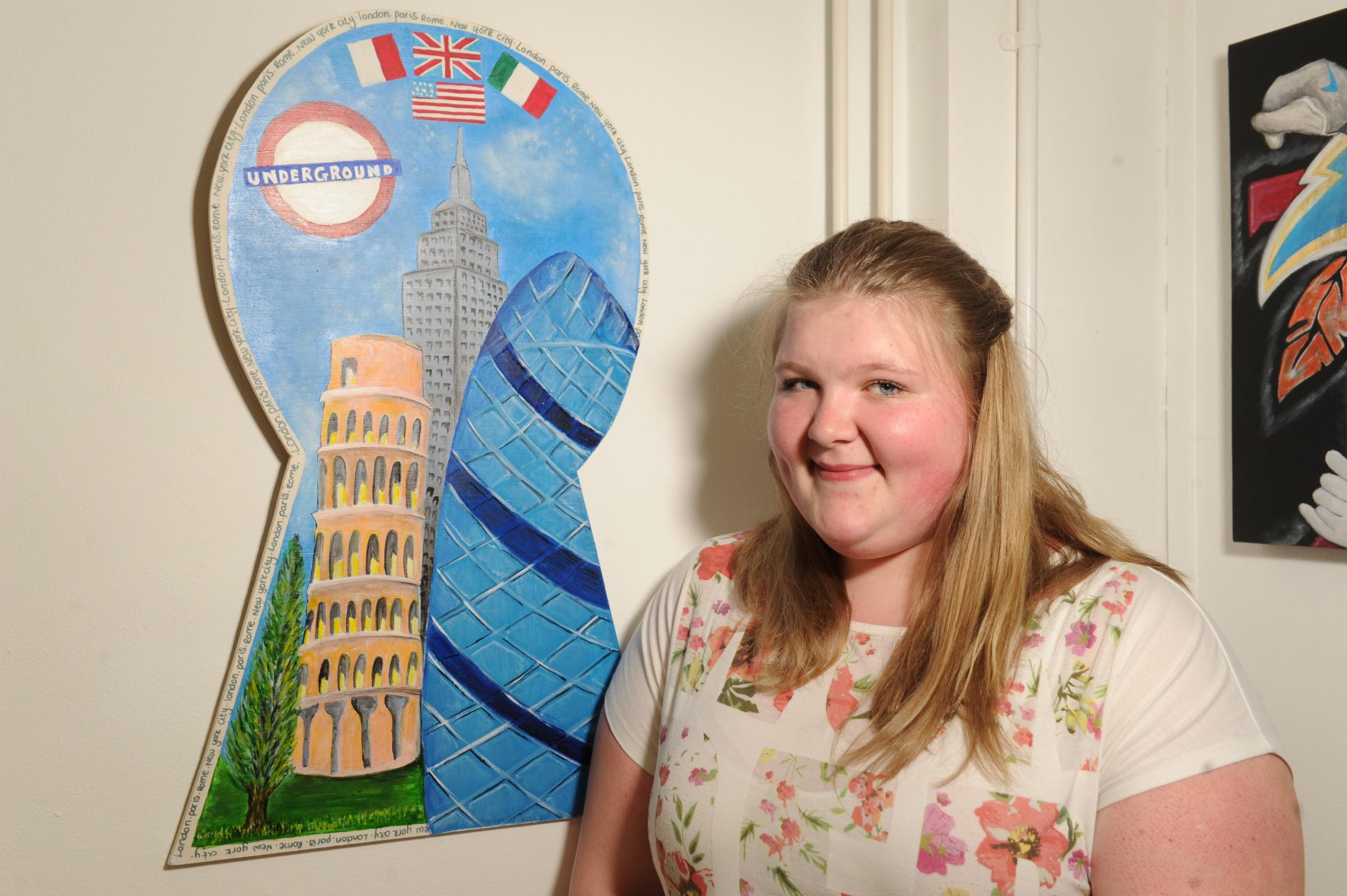 Cwmbran students' artwork goes on display