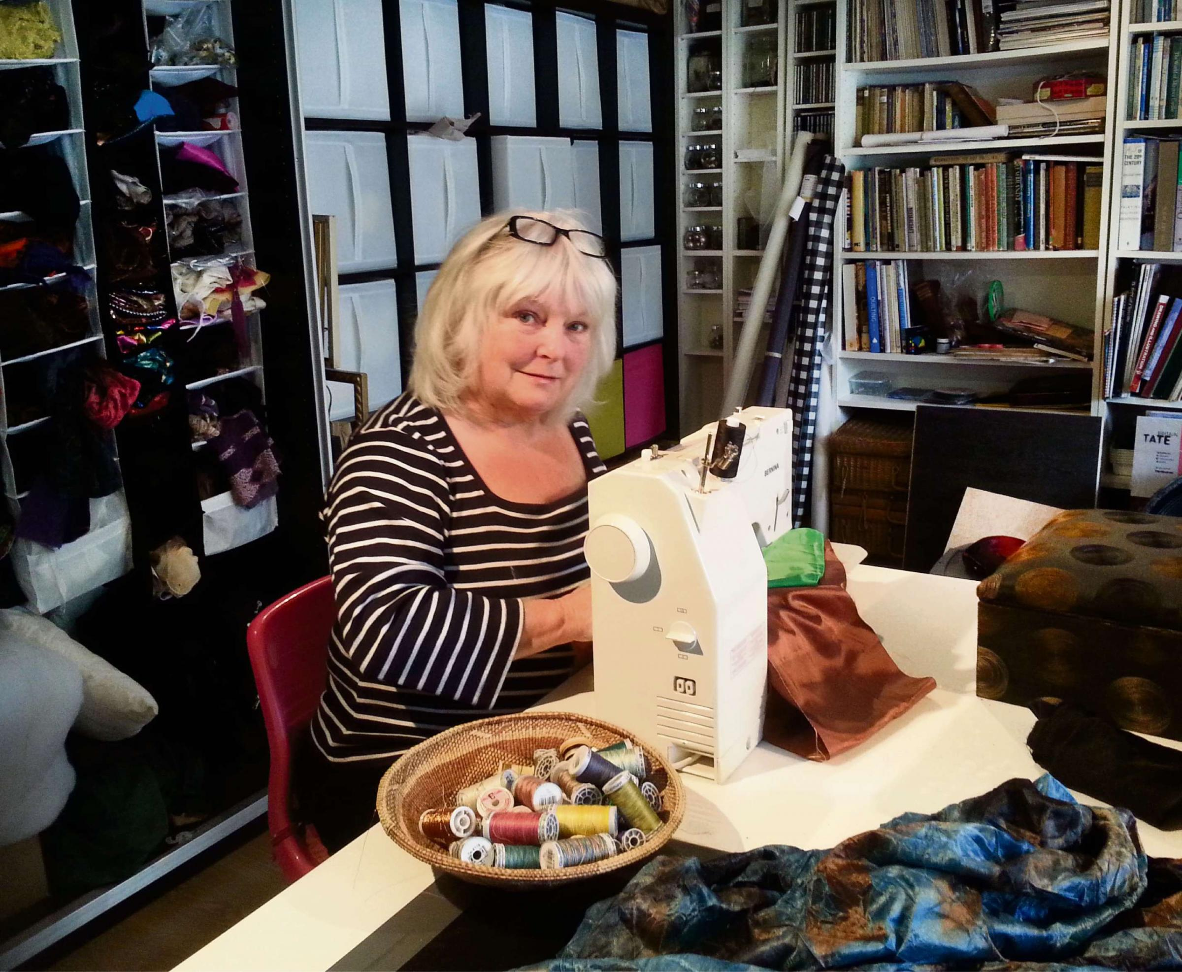 ALL SEWN UP: Quilter Christabel Gilbert has designed a re-imagined Chartist banner.