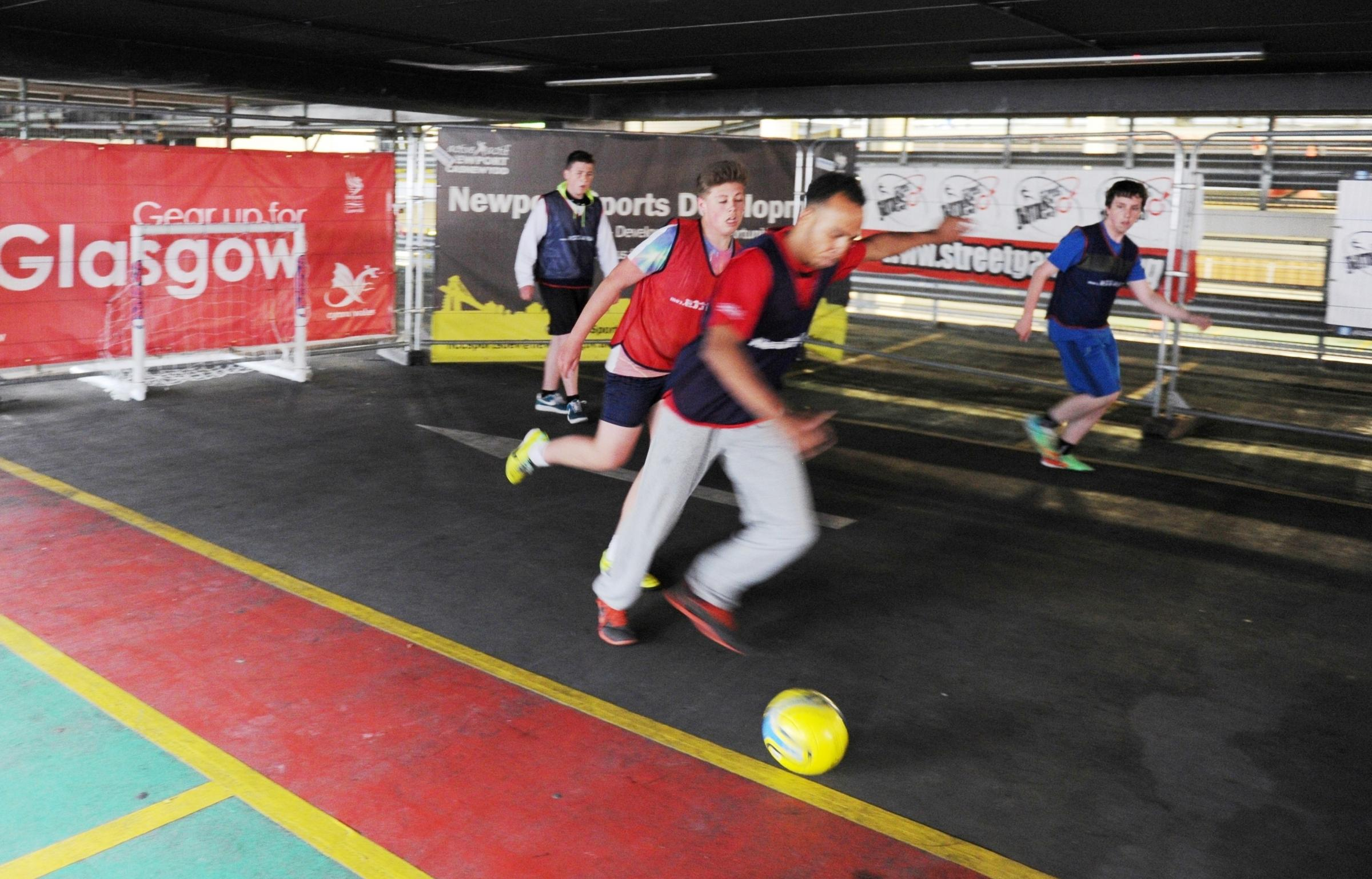 Newport car park becomes sports ground