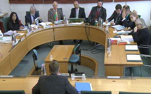 GRILLING: The Home Affairs Select Committee, including Newport West MP Paul Flynn, second left