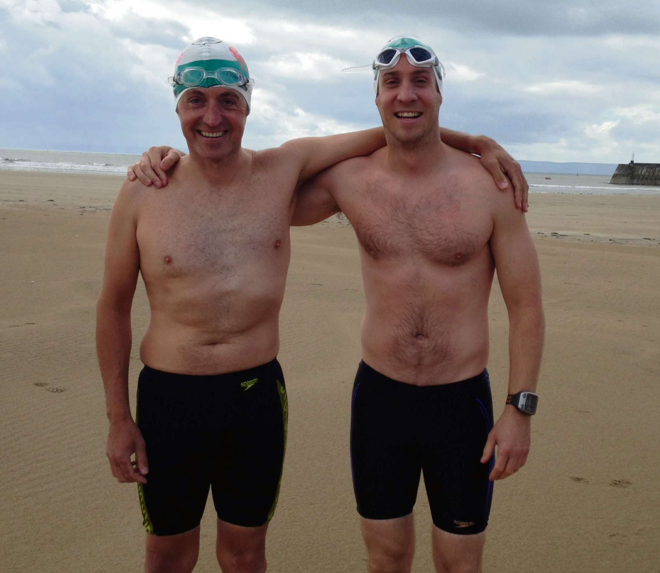 Swimmers:  Hugh Hughes (left) and Andrew Parker.