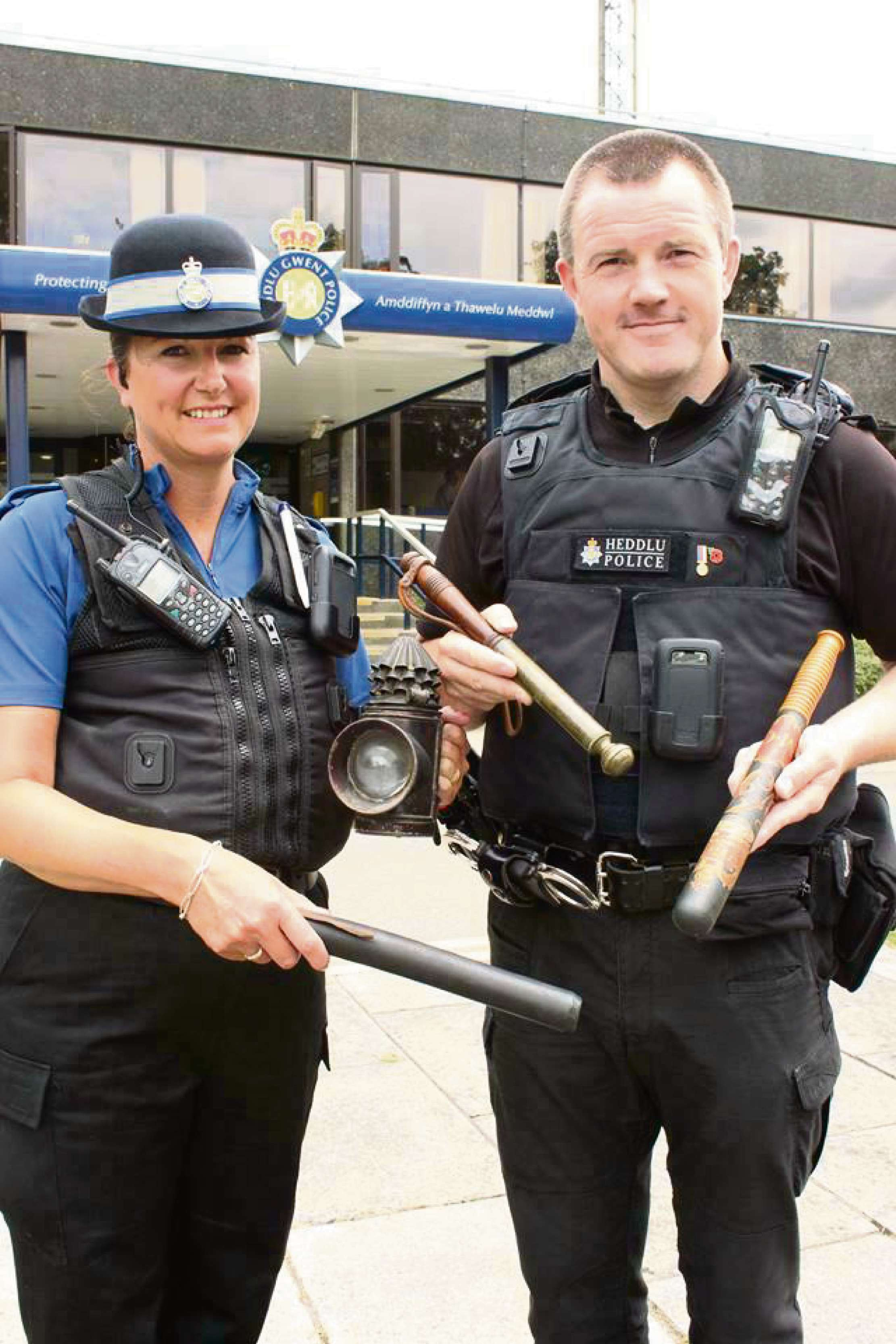 TREASUES: A 'tipstaff' and a truncheon are just two of the items Gwent Police will be submitting for valuation at the Antiques Roadshow.