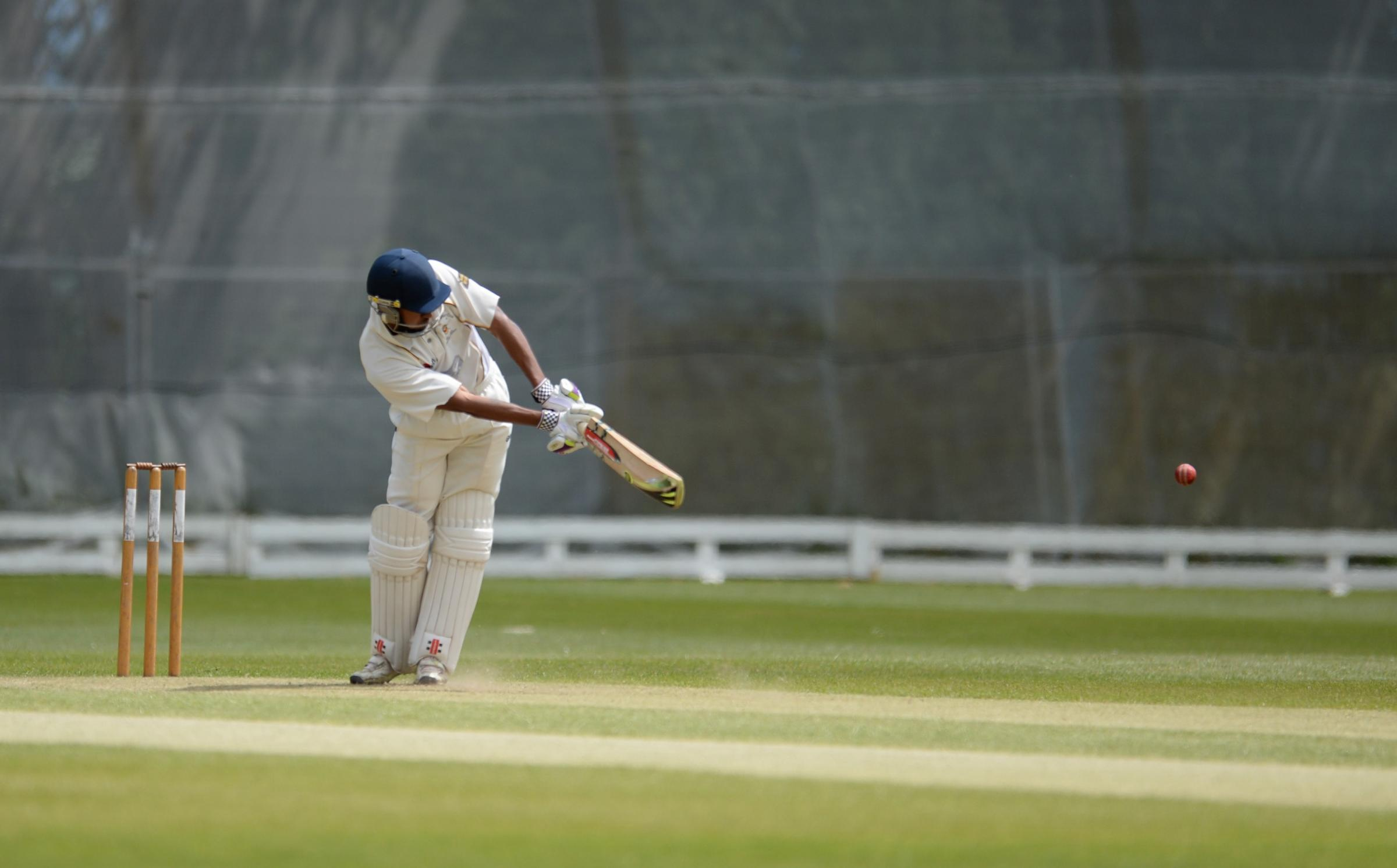 Panteg CC v Newport CC. Terryn Fay batting for Newport. (7386992)