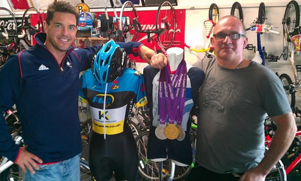 SUBMITTED PICOn Saturday 6 October, World Champion and Para-Olympic Gold and Silver Medallist Mark Colbourne will be visiting M&D Cycles in Frogmore Street, Abergavenny to meet and speak to everyone about the Olympics and his journey becoming  World a