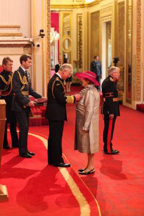 HONOUR: Newport West AM and presiding officer of the Assembly Rosemary Butler invested with her damehood by Prince Charles at a ceremony at Buckingham Palace