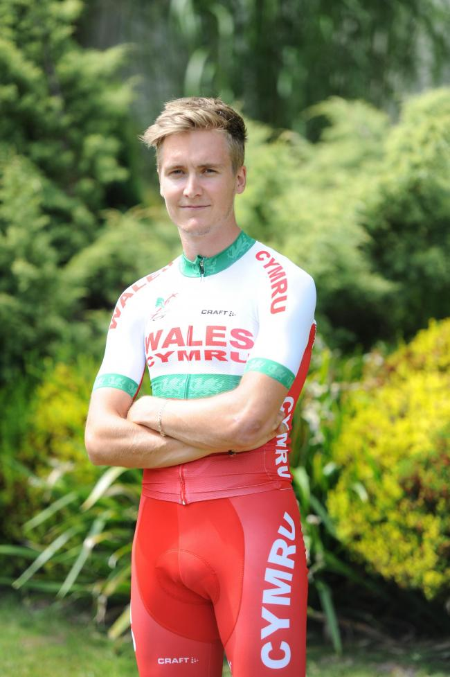 Welsh Cycling and Commonwealth Games kit provider launched the new Team Wales cycling kit at The Celtic Manor Resort.  Pictured is Gwent cyclist Sam Harrison, aged 23 from Risca.