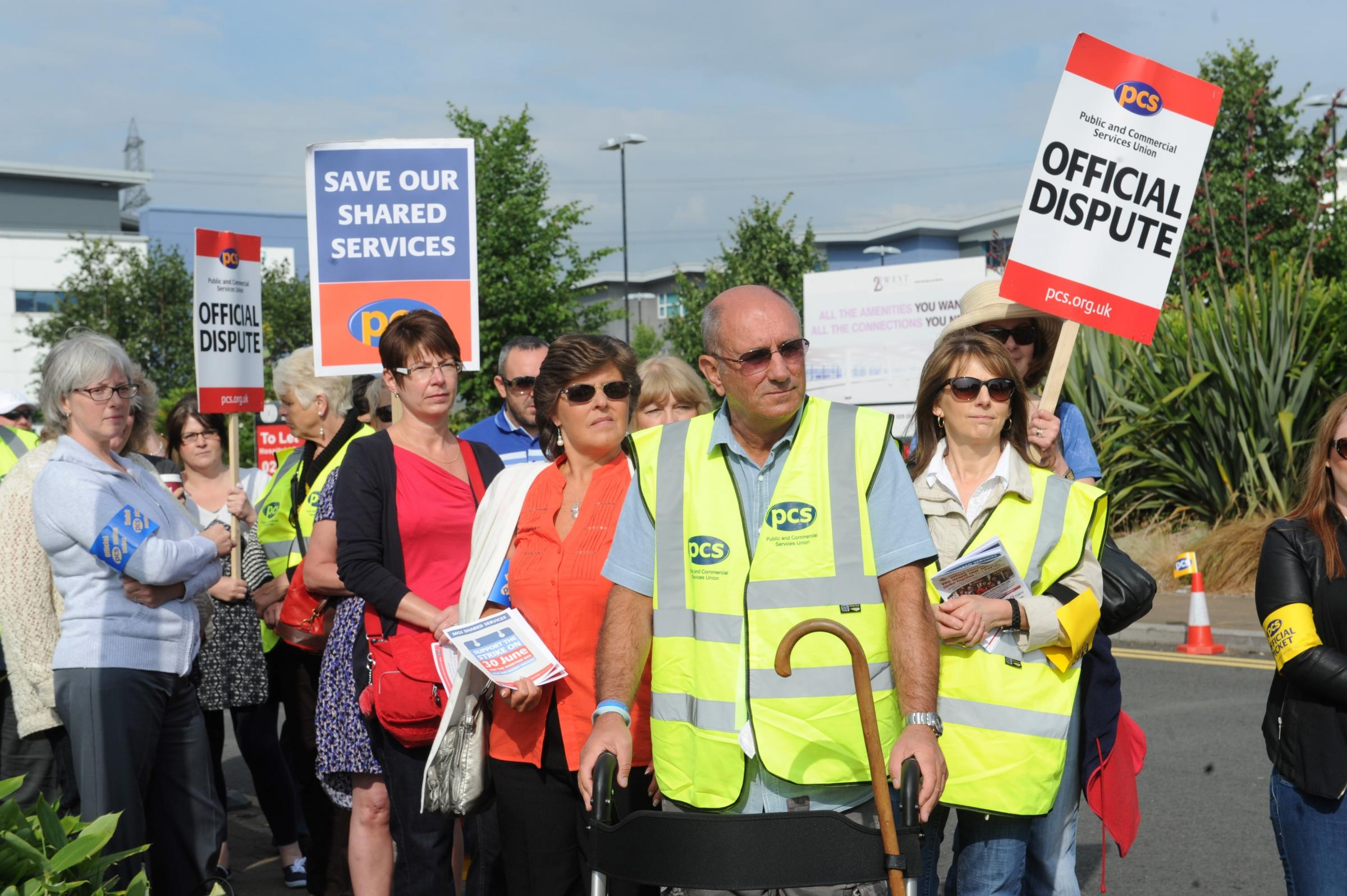 Newport workers strike over privatisation threat