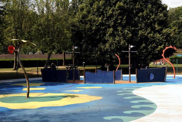 SHUT DOWN: The water play feature in Newport's Tredegar Park has been closed for good