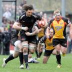 South Wales Argus: SWA CT 7.4.12CROSS KEYS V THE CORNISH PIRATES ROB NASH ON THE ATTACK (7589322)