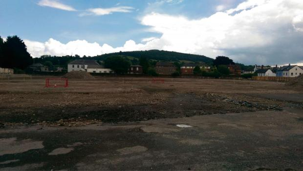 Demolition work has taken place on the site of the former Abergavenny Livestock Market