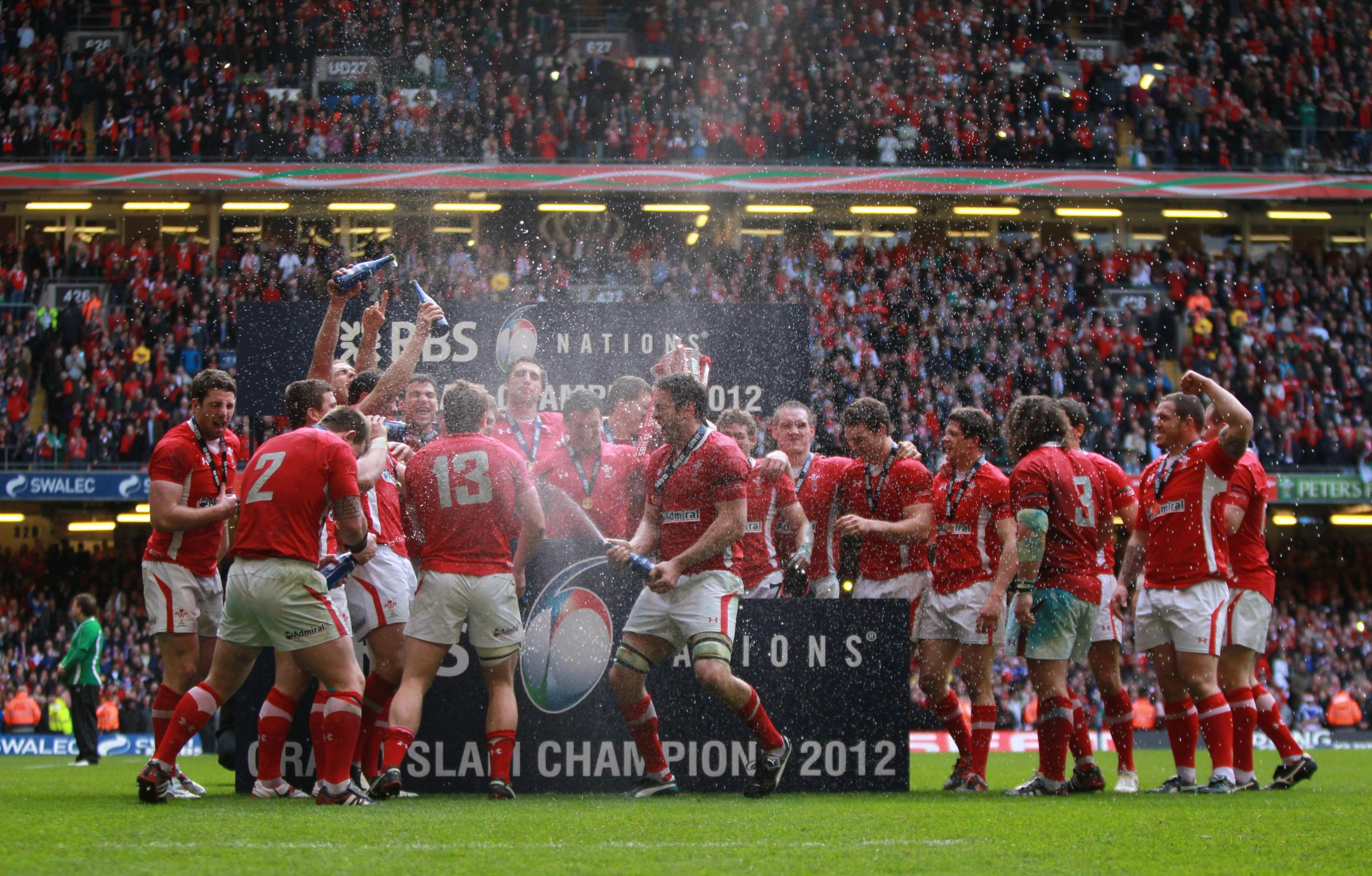 File photo dated 17/03/2012 of Wales celebrating winning the Grand Slam during the RBS 6 Nations match at the Millennium Stadium, Cardiff. PRESS ASSOCIATION Photo. Issue date: Friday January 24, 2014. Wales will create history if they win this season'