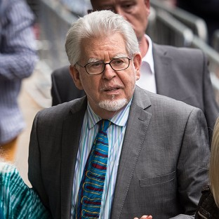 Rolf Harris outside Southwark Crown Court during his trial