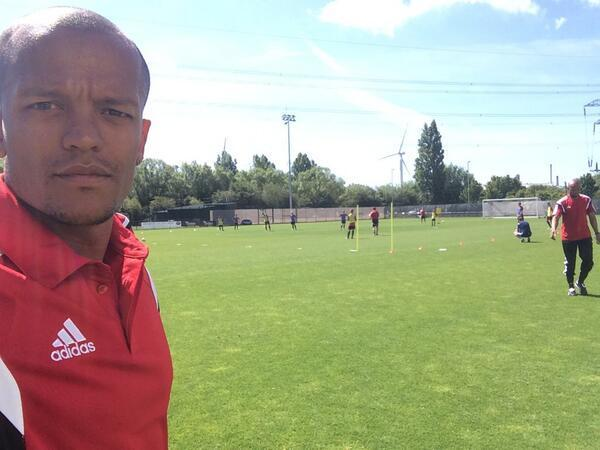 COACHING COURSE: Robert Earnshaw at Dragon Park, Newport, last month