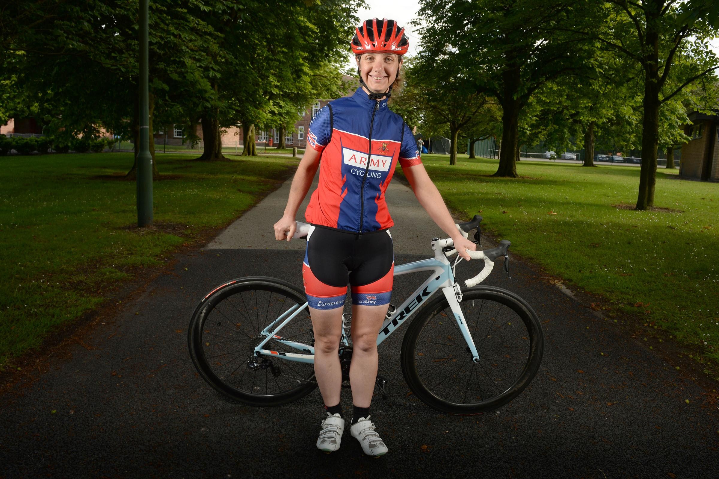 Blaina soldier tests out Tour de France route