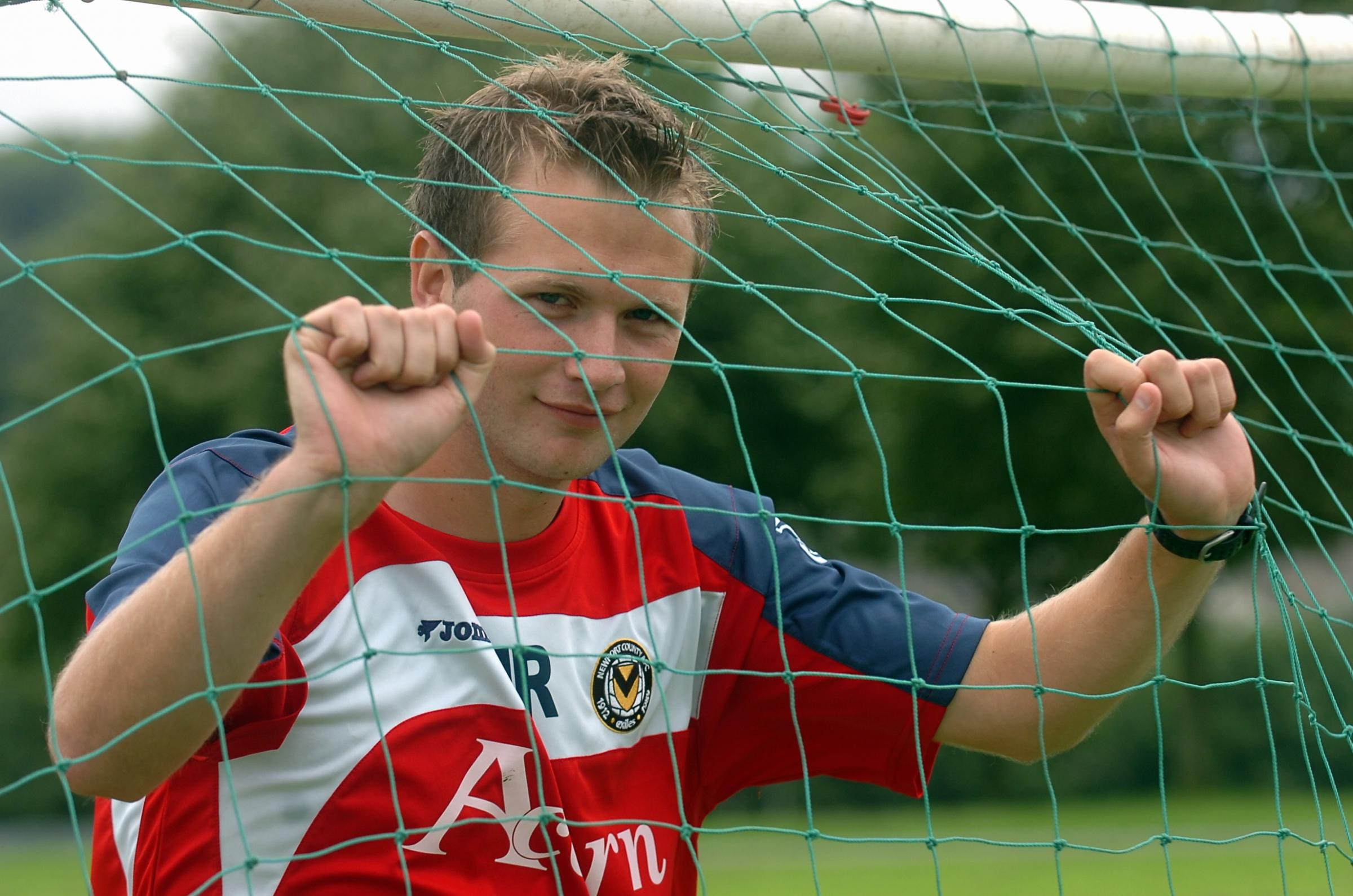 TOP COACH: James Rowberry during his time at the Newport County AFC Academy