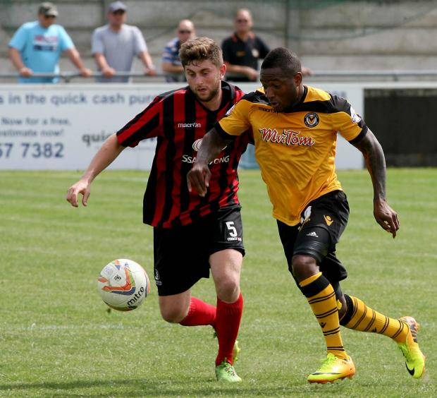 OPENER: Aaron O'Connor scored the first goal at Cirencester on Saturday