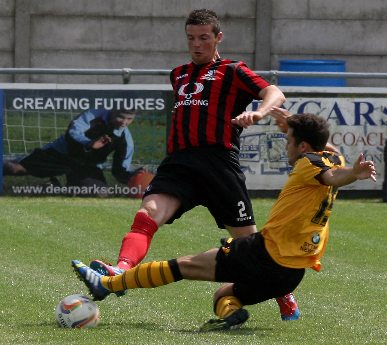 TRIALIST: Joe Carter in action against Cirencester on Saturday
