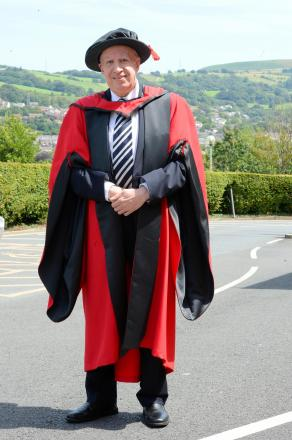 Paul Murphy MP being awarded an honourary doctorate at the University South Wales Treforest campus (8337619)