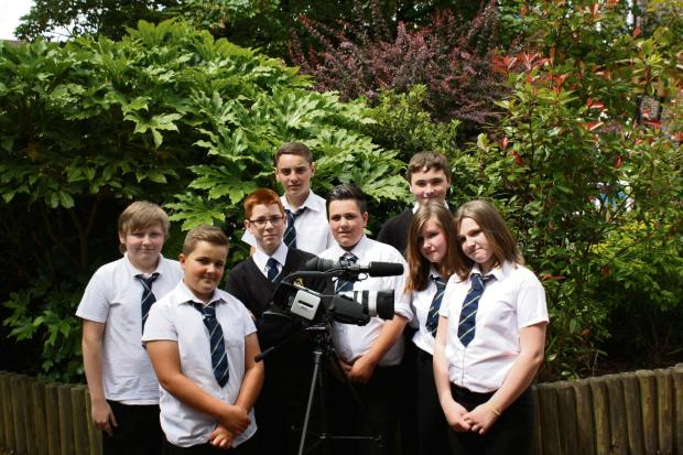 FILMMAKERS: Newbridge Inclusion Centre Pupils (l-r) Callum Williams, Dylan Chequer, Kieron Connick, Caymen Perring, Paige Bennett, Samantha Jones, Jason Stapleton and Demi Vernall.