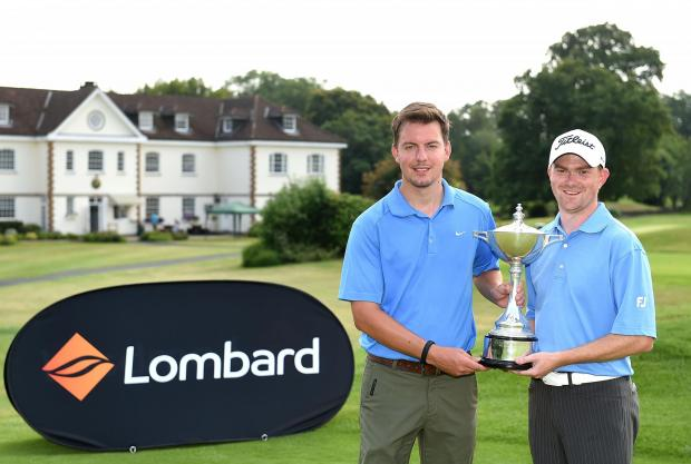 WINNERS: Tom Davies and Anthony Williams at the Lombard Trophy Midland regional qualifier at Lambourne Golf Club (Photo by Tom Dulat/Getty Images)