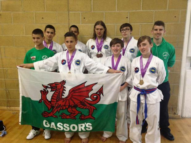TALENTED: Gassor's Tournament Team members who won medals at the London Open Taekwon-Do Championships