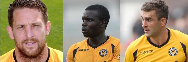 CANDIDATES FOR CAPTAIN: From left, Darren Jones, Ismail Yakubu and Andy Sandell