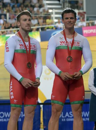 SUCCESS: Wales' Matthew Ellis, left, and Ieuan Williams with their bronze medals