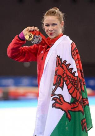 MEDALS GALORE: Frankie Jones has won a gold and five silvers at Glasgow 2014