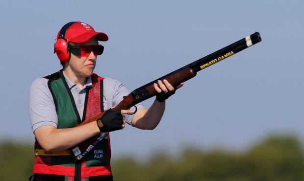 South Wales Argus: Wales's Elena Allen in action on her way to a Silver Medal in the Skeet Women Final at the Barry Buddon Shooting Centre in Carnoustie, during the Glasgow 2014 Commonwealth Games. PRESS ASSOCIATION Photo. Picture date: Friday July 25, 2014. See PA stor