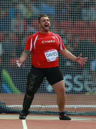 SILVER: Welsh captain Aled Davies was disappointed not to win gold