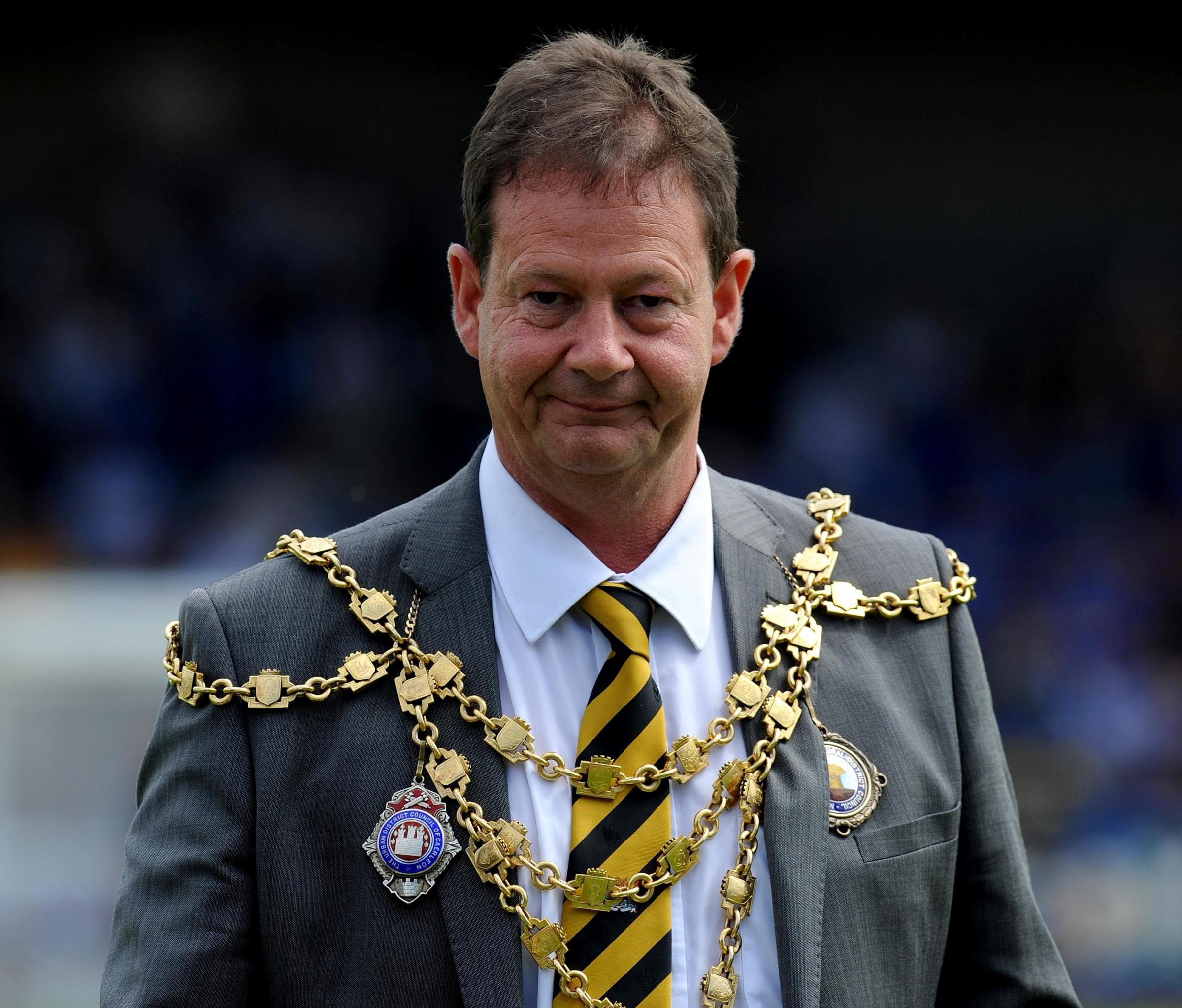NO WELCOME ROLE: The Mayor of Newport Cllr Matthew Evans won't be greeting President Obama