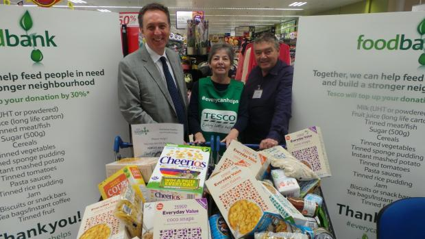 HAPPY: Nick Smith MP with foodbank supporters