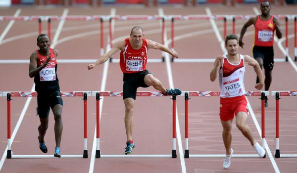 FIFTH: Wales star Dai Greene failed to make the final of the 400m hurdles