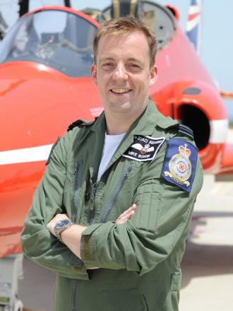 FLY: Flt Lt Michael Bowden will fly with the Red Arrows from September