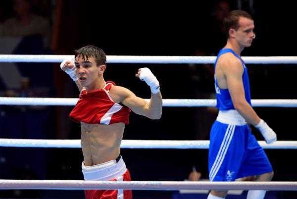 VICTORY: Michael Conlan celebrates his controversial win over Sean McGoldrick