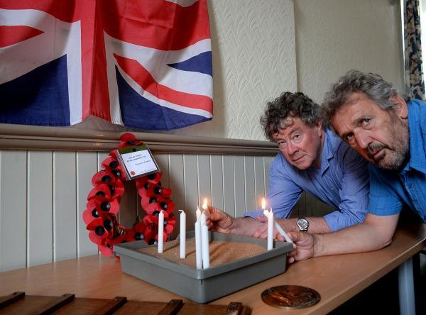The lighting of candles will take place at Bishton Village Hall in a WW1 ceremony and dedication service for the three soldiers who were killed in in the Great War. Pictured are Robert Hepworth, (lt), and Ian Long