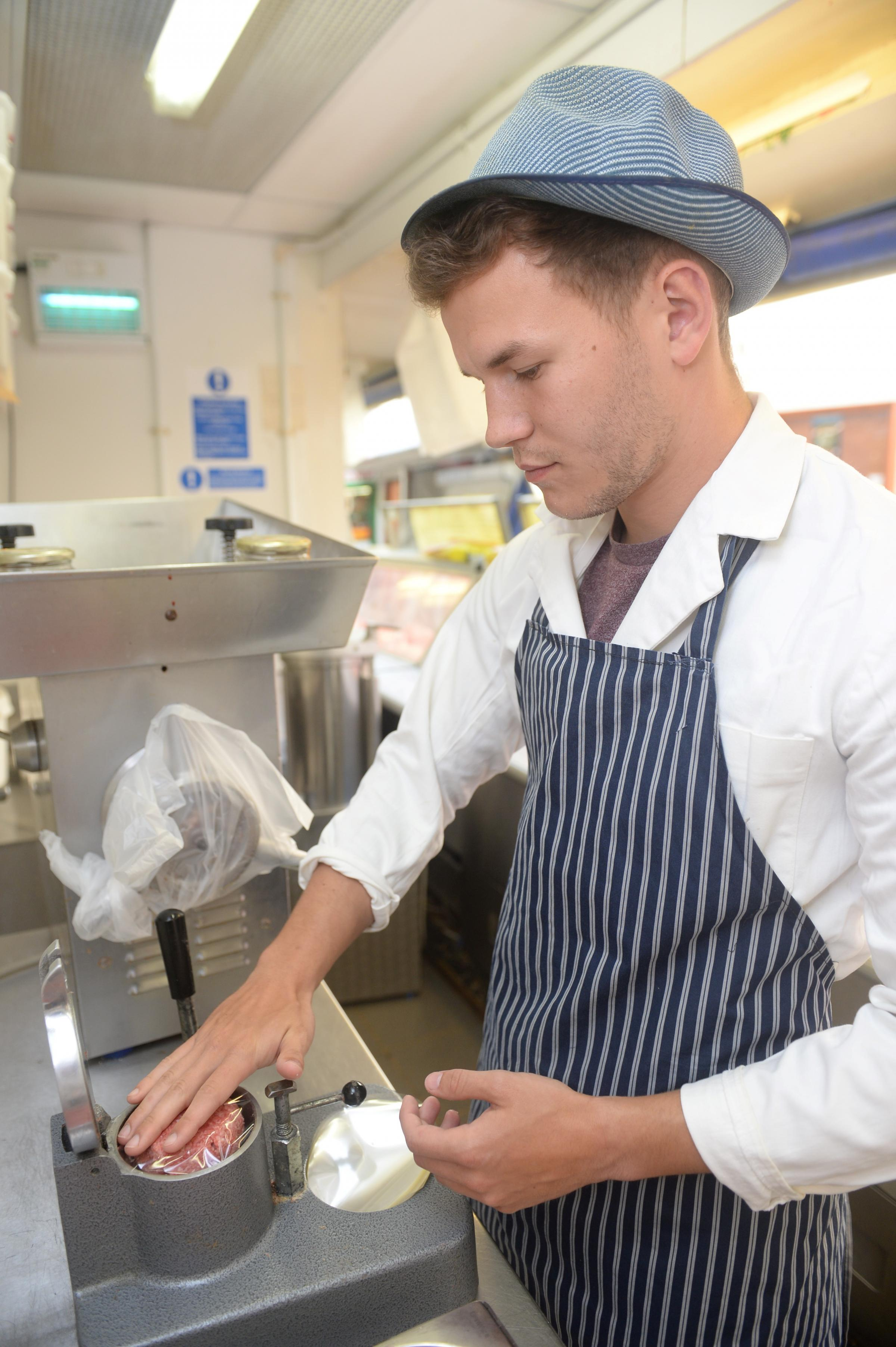 WORK EXPERIENCE: Our man becomes a butcher