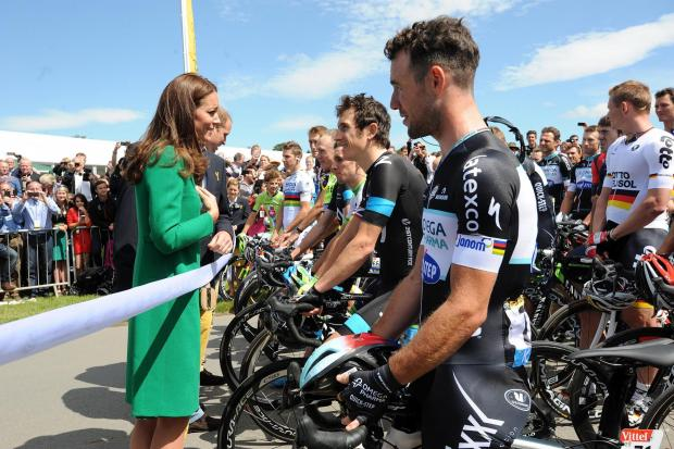 EYE FOR THE LADIES: Geraint Thomas chatted with the Duchess of Cambridge at the Tour de France in Yorkshire last month