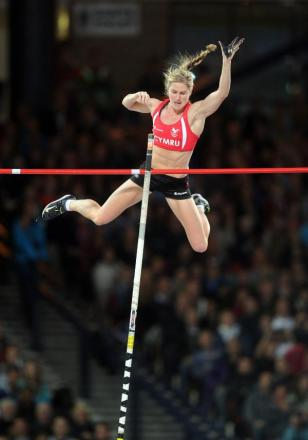 SILVER: Welsh pole vault star Sally Peake