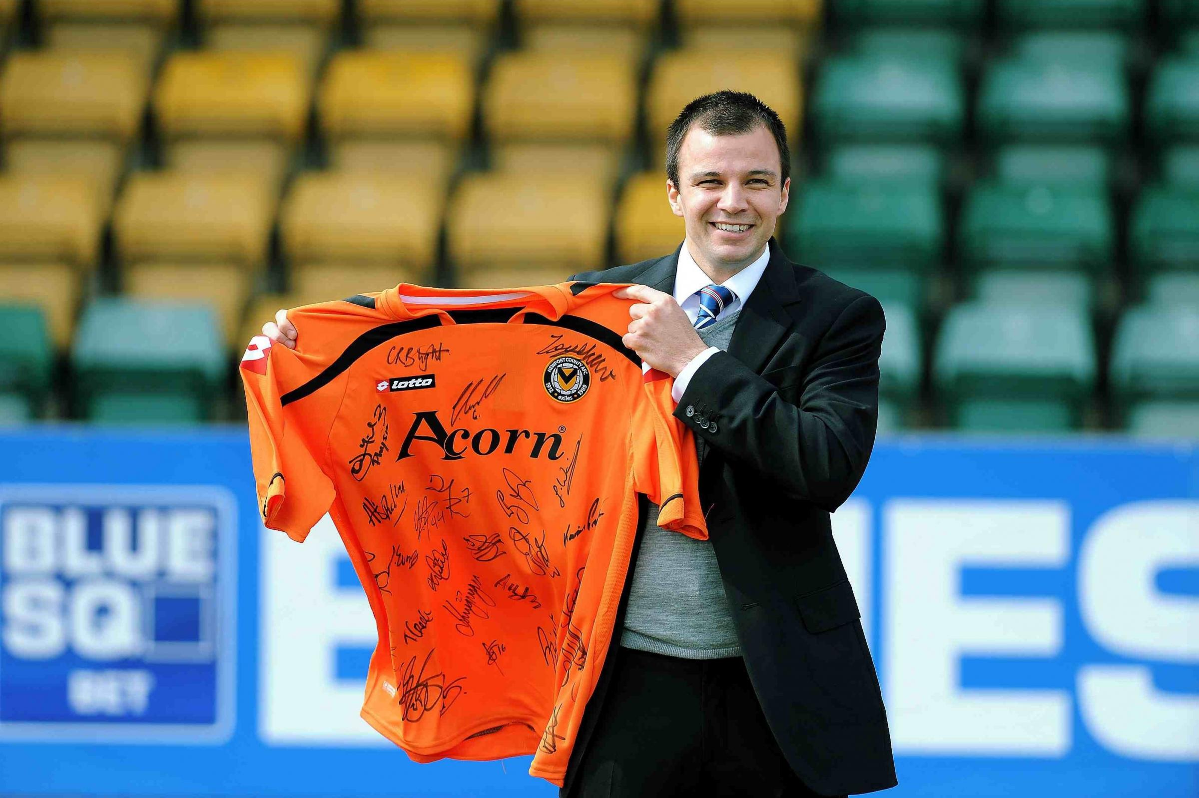 NEW JOB: Former Newport County AFC boss Anthony Hudson is now in charge of New Zealand