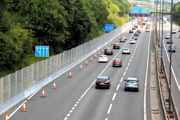 Fencing along the M4 by  the Celtic Manor in Newport as part of the NATO security. (9015592)