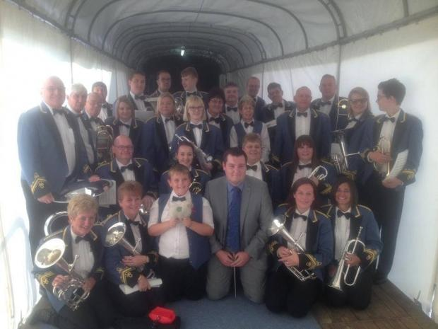 PROUD WINNERS: Blaenavon Band at the competition.