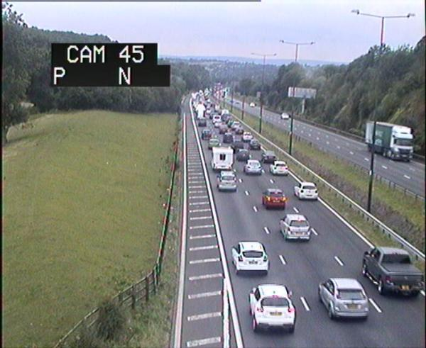 DELAYS: Queuing traffic on the M4 approaching Newport