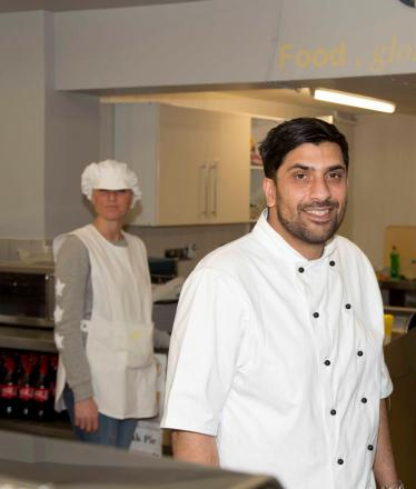 REFURBISHED: Rehan Rasul in the Salt and Vinegar chip shop in Malpas Road, Newport