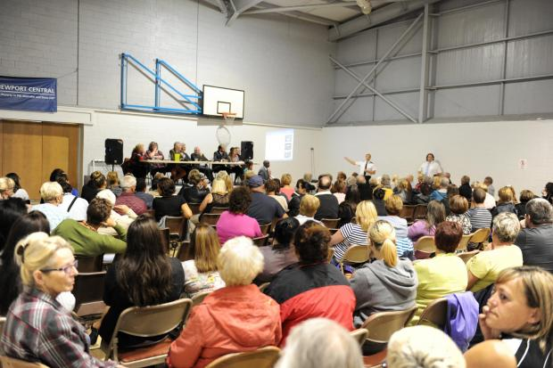 Public meeting held at Pill Millennium Centre regarding the NATO Pill Peace Camp. (9221235)
