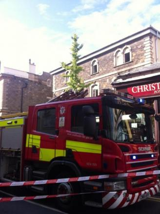 Fire crews tackle blaze on Commercial Street Pontypool