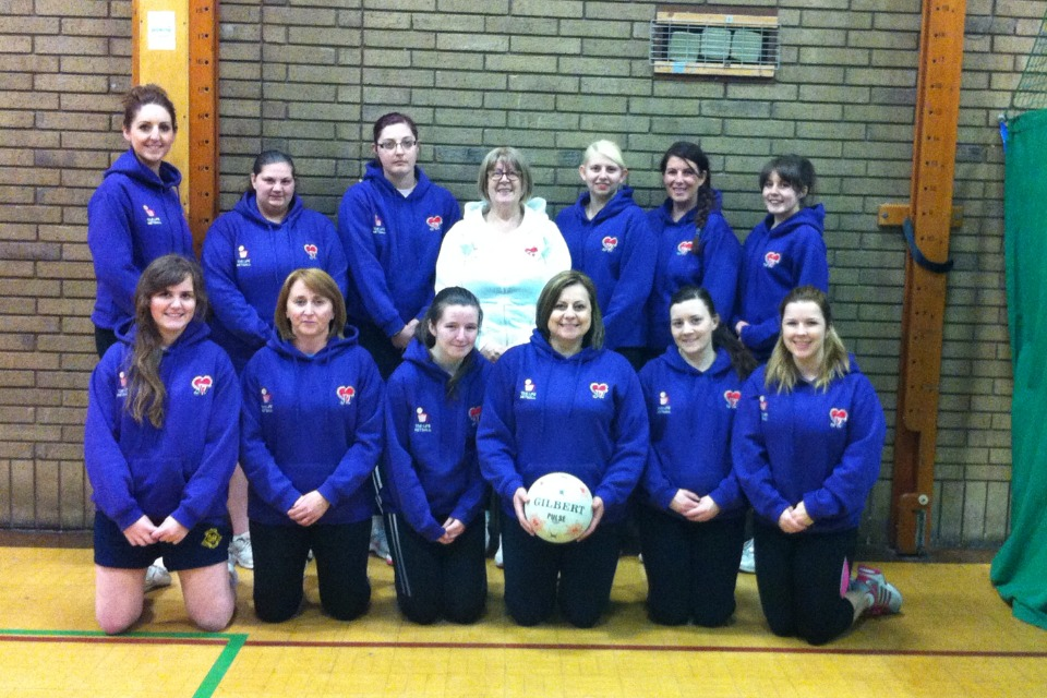 Netball team raises money for Jack's Appeal with help from bank