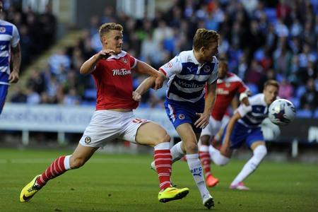 STEP UP: Yan Klukowski in action against Reading in the Capital One Cup on TuesdayPicture: Andrew Orchard sports photography